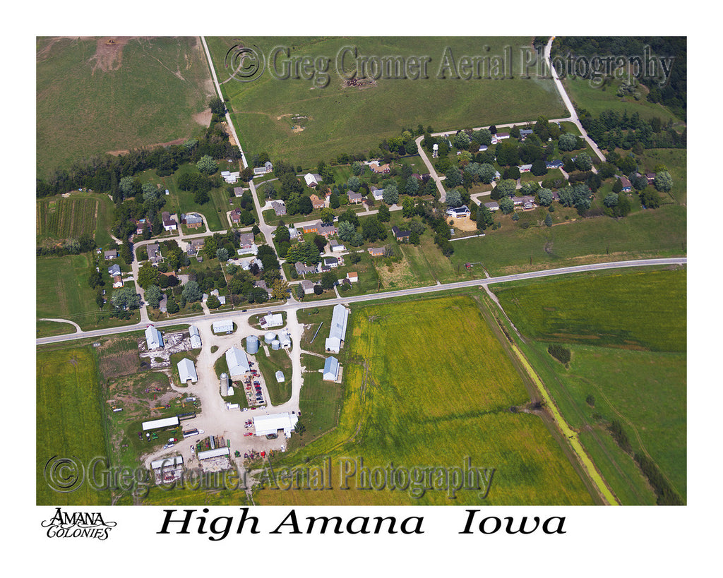 Aerial Photo of High Amana Iowa