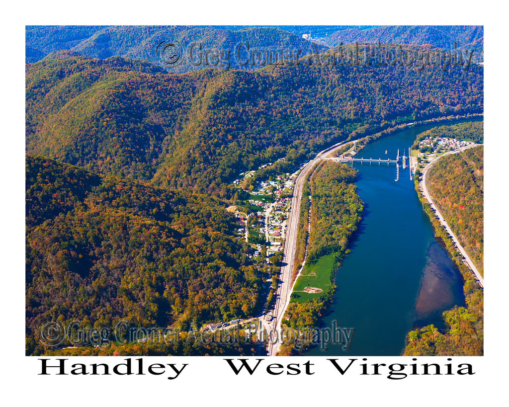 Aerial Photo of Handley, West Virginia