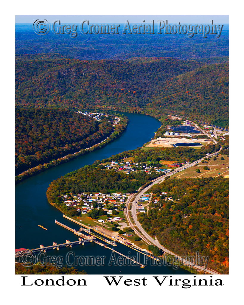 Aerial Photo of London, West Virginia