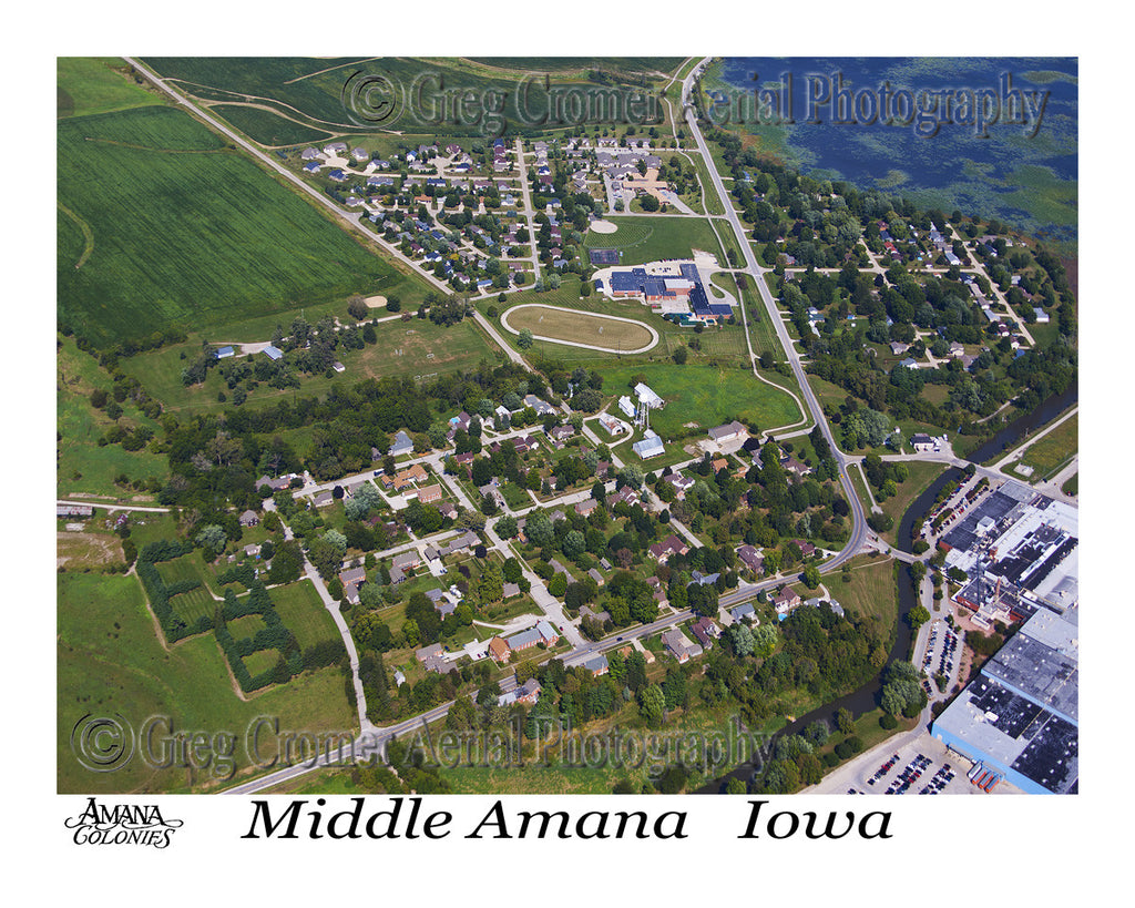 Aerial Photo of Middle Amana Iowa
