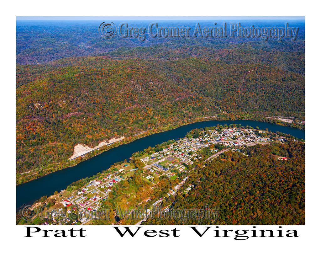 Aerial Photo of Pratt, West Virginia