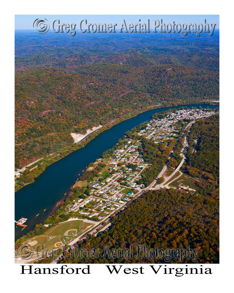 Aerial Photo of Hansford, West Virginia