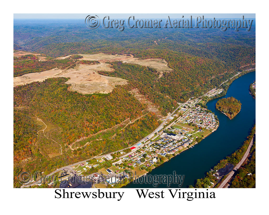 Aerial Photo of Shrewsbury, West Virginia