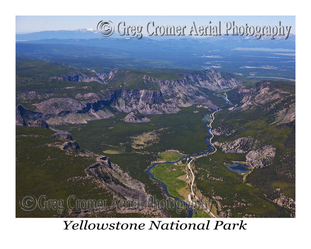 Aerial Photo of Madison Area & West - Yellowstone National Park, Wyoming