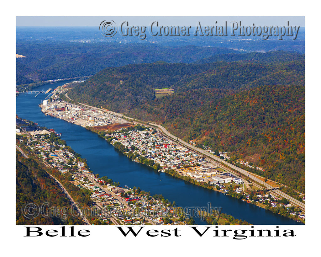 Aerial Photo of Belle, West Virginia