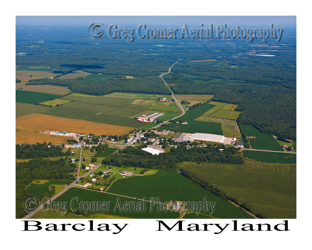 Aerial Photo of Barclay, Maryland