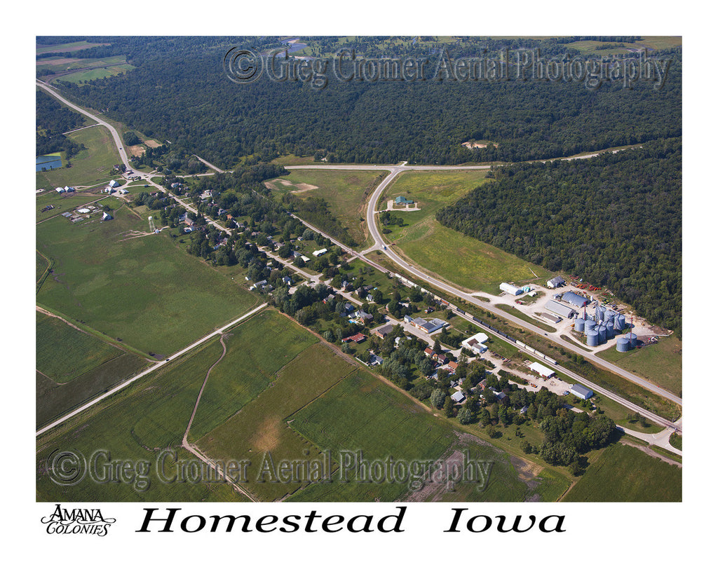 Aerial Photo of Homestead Iowa
