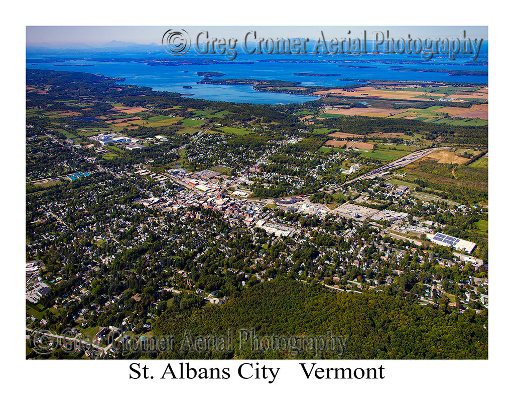 Aerial Photo of St. Albans City, Vermont
