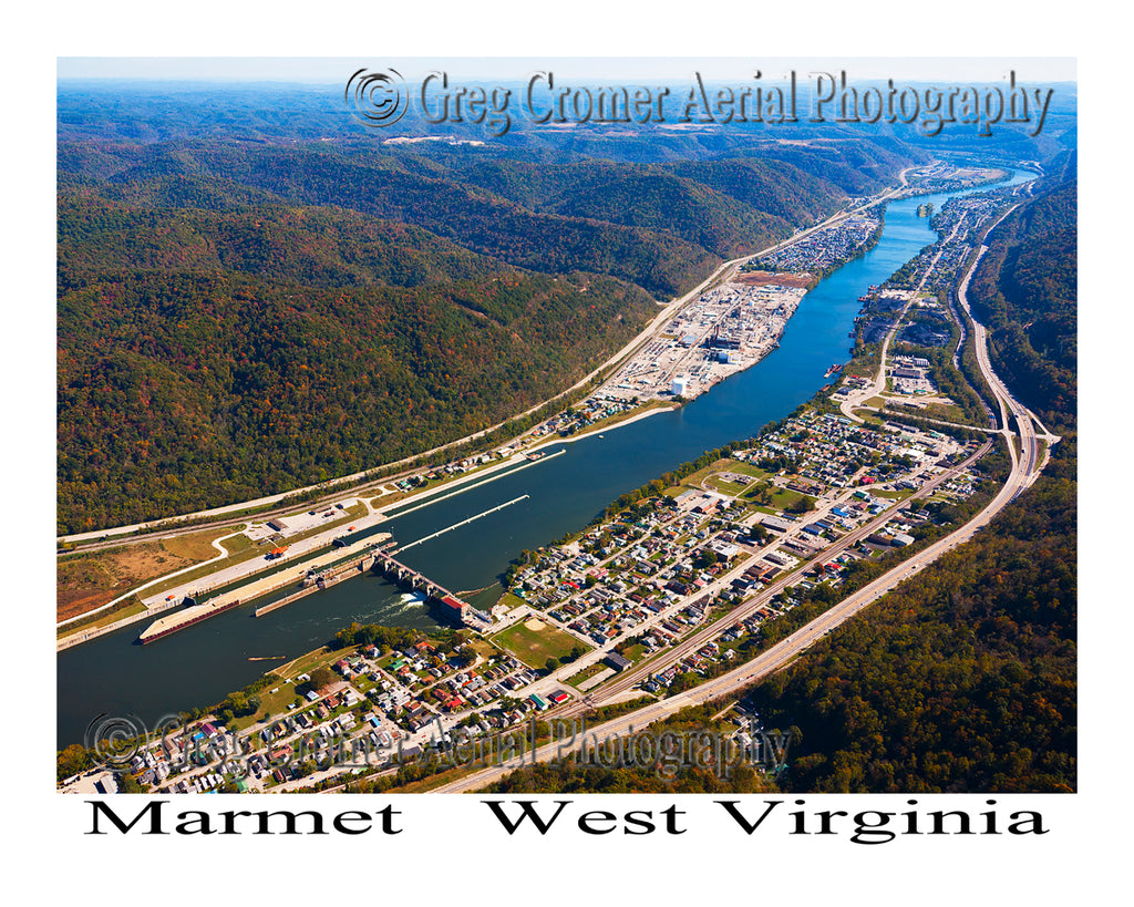 Aerial Photo of Marmet, West Virginia