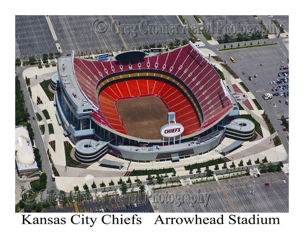 Aerial Photo of Chiefs Stadium Kansas City Missouri