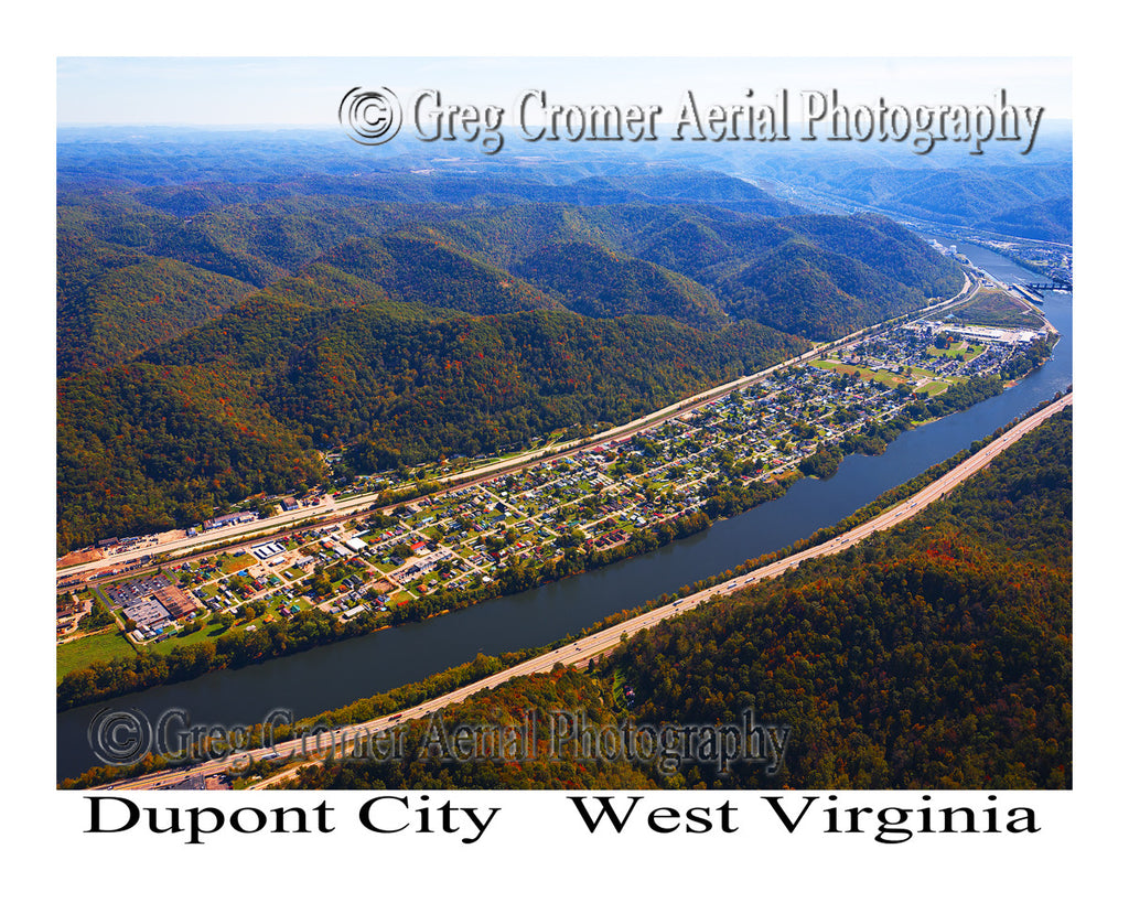 Aerial Photo of Dupont City, West Virginia