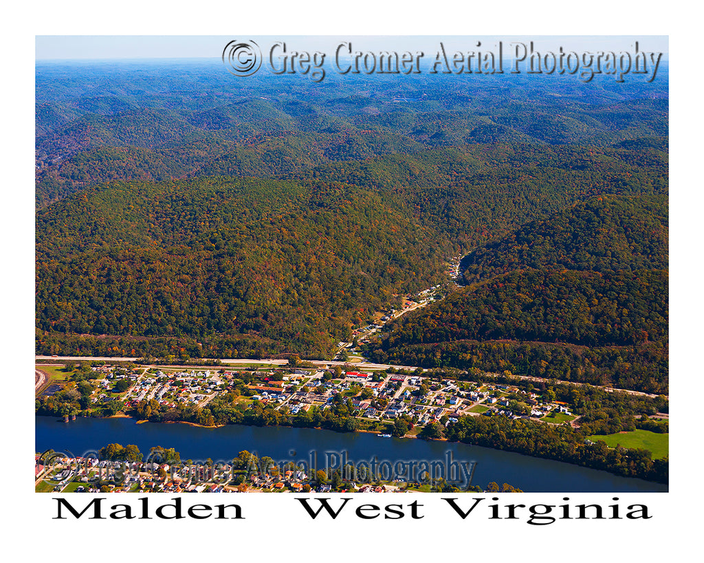 Aerial Photo of Malden, West Virginia