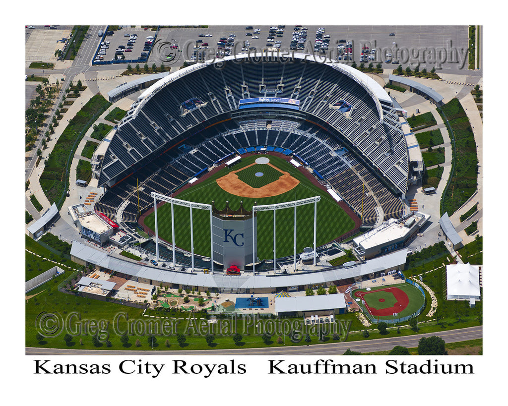 Aerial Photo of Kansas City Royals Stadium Kansas City Missouri