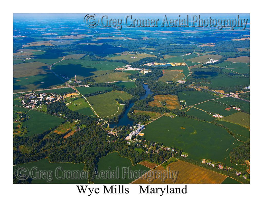 Aerial Photo of Wye Mills, Maryland