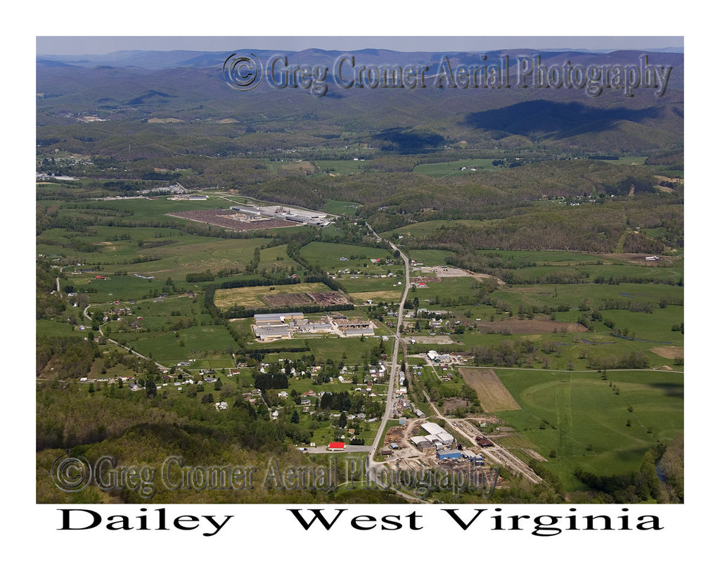 Aerial Photo of Dailey, West Virginia