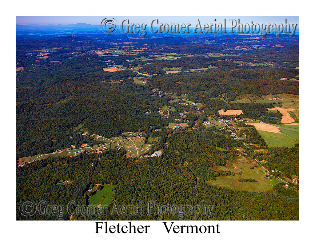 Aerial Photo of Fletcher, Vermont