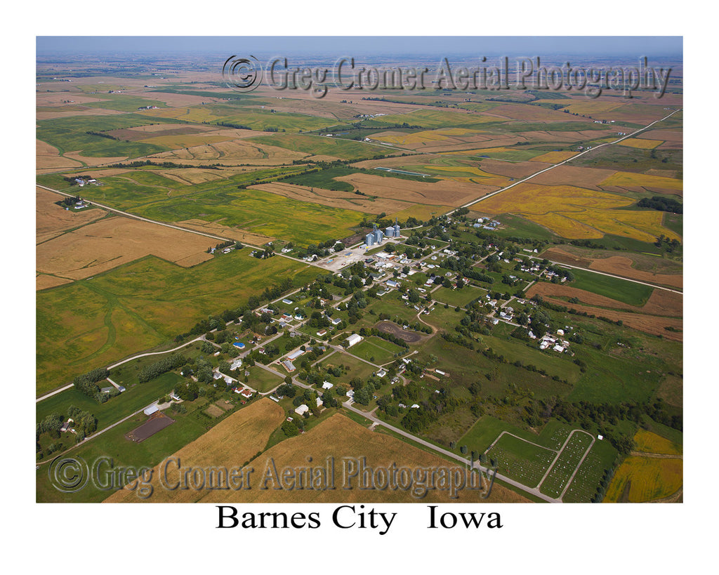 Aerial Photo of Barnes City Iowa