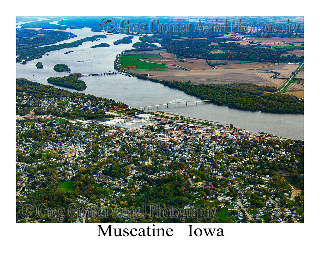 Aerial Photo of Muscatine, Iowa