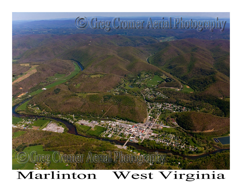 Aerial Photo of Marlinton, West Virginia