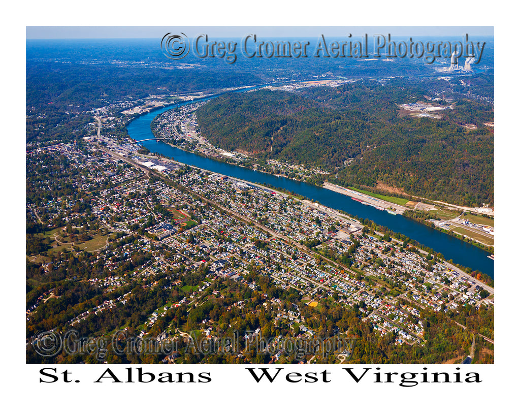 Aerial Photo of St. Albans, West Virginia