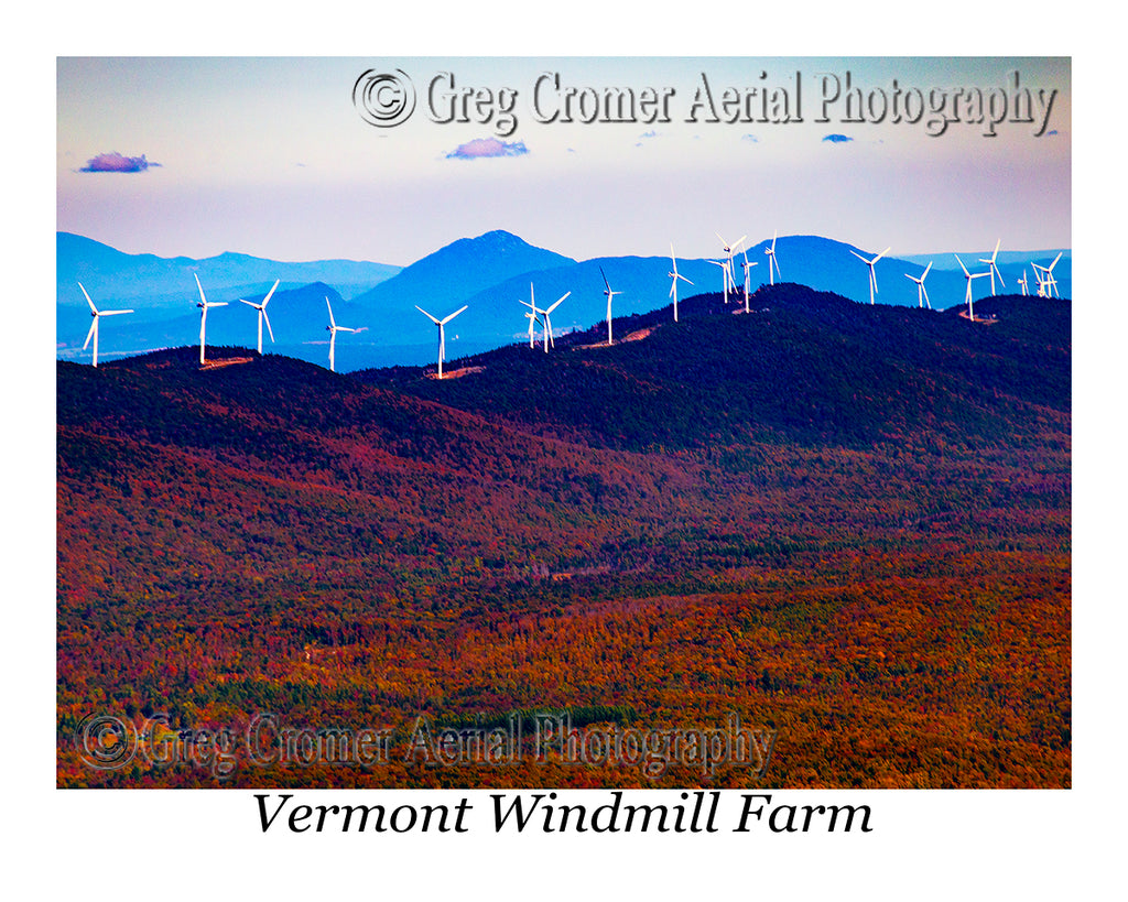 Aerial Photo of Windmill Farm, Vermont