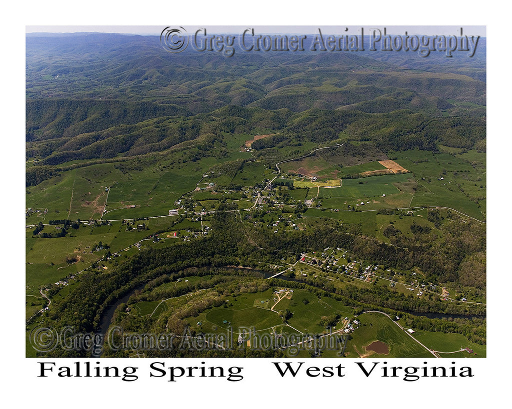 Aerial Photo of Falling Spring, West Virginia