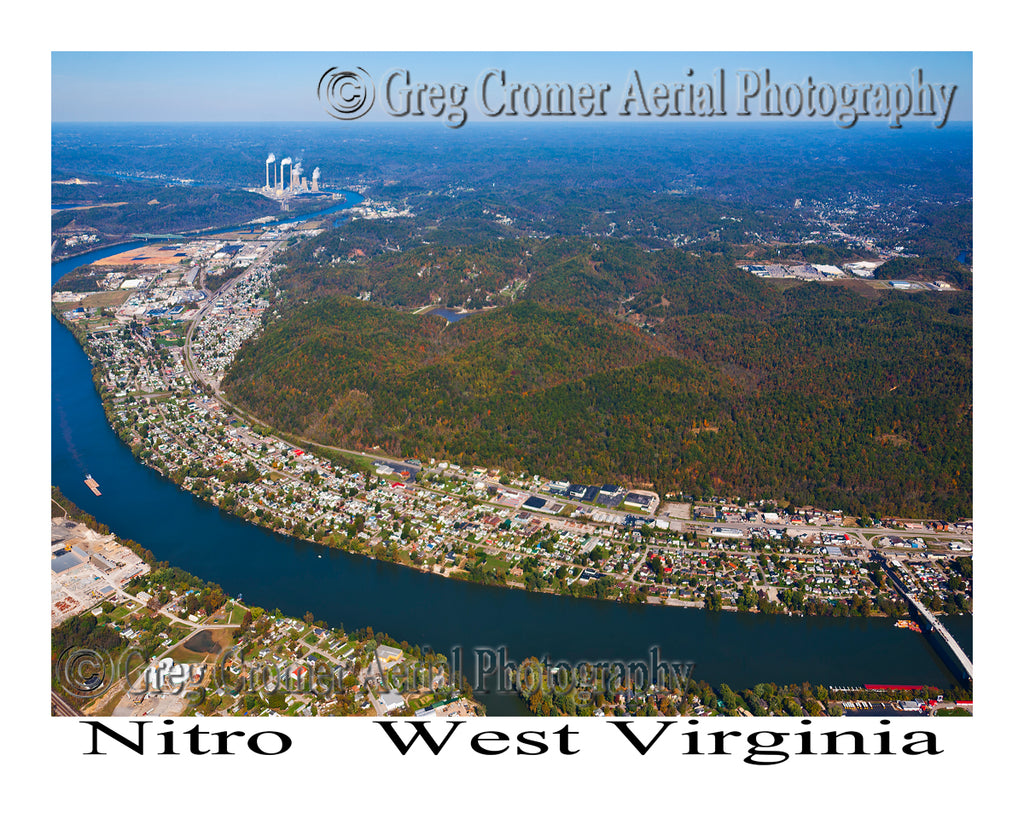 Aerial Photo of Nitro, West Virginia