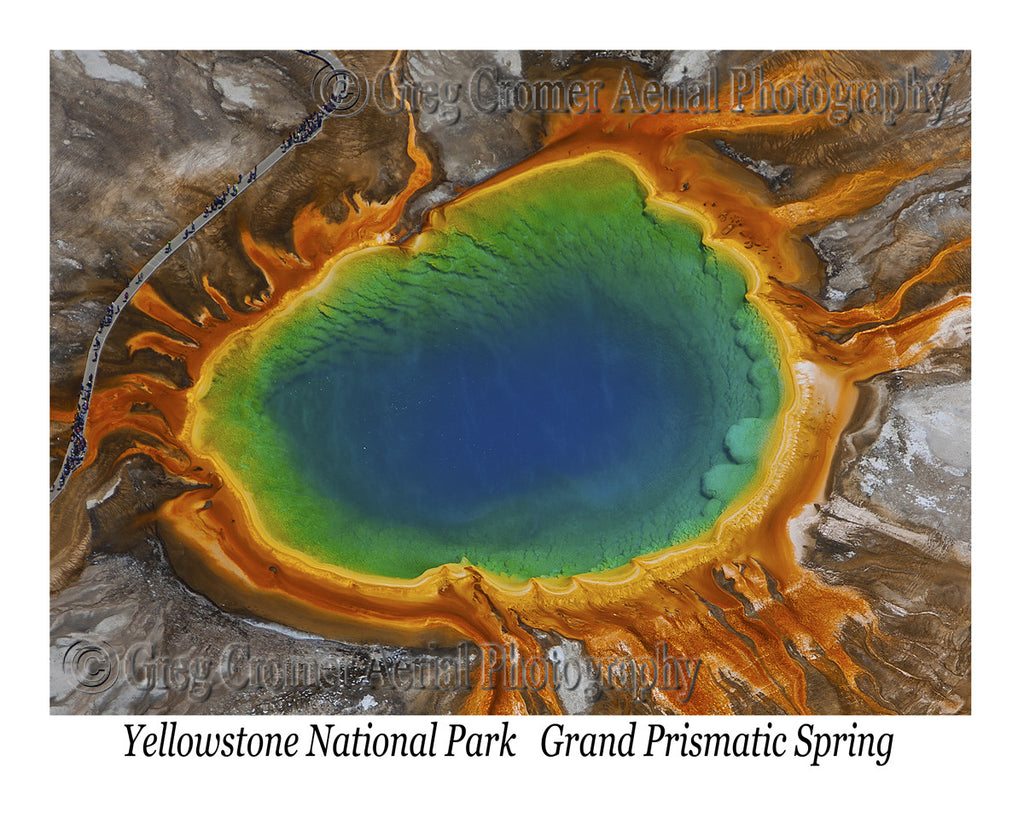 Aerial Photo of Grand Prismatic Spring - Closeup - Yellowstone National Park, Wyoming