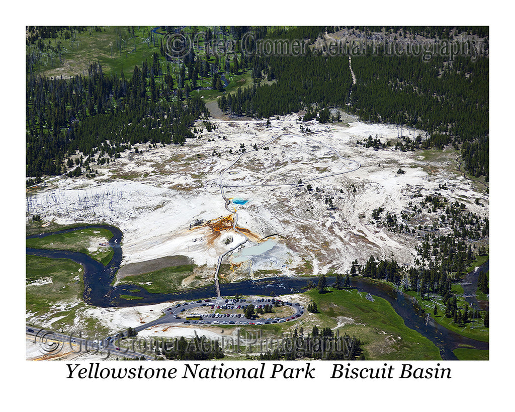 Aerial Photo of Biscuit Basin - Yellowstone National Park, Wyoming