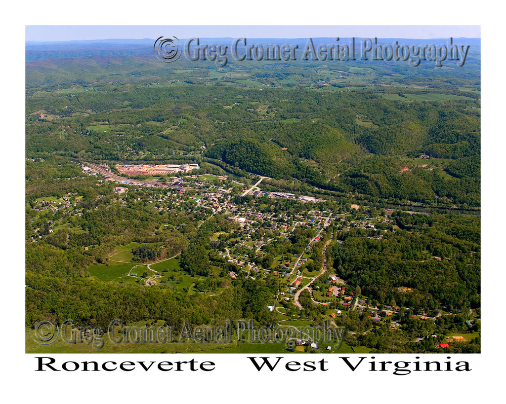 Aerial Photo of Ronceverte, West Virginia