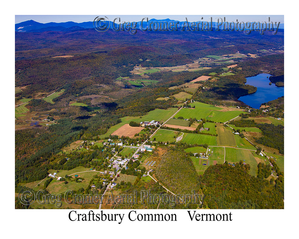 Aerial Photo of Craftsbury Common, Vermont
