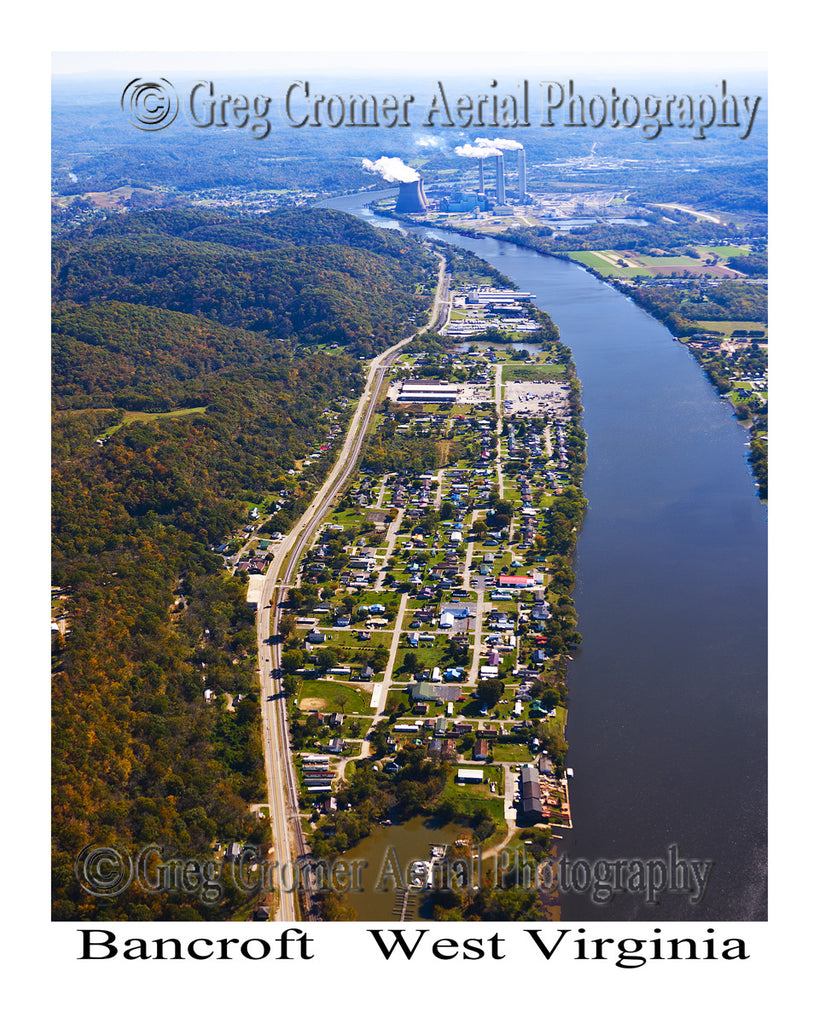 Aerial Photo of Bancroft, West Virginia