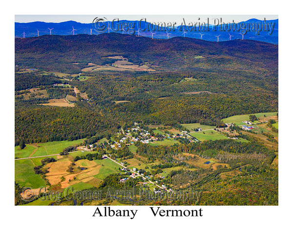 Aerial Photo of Albany, Vermont