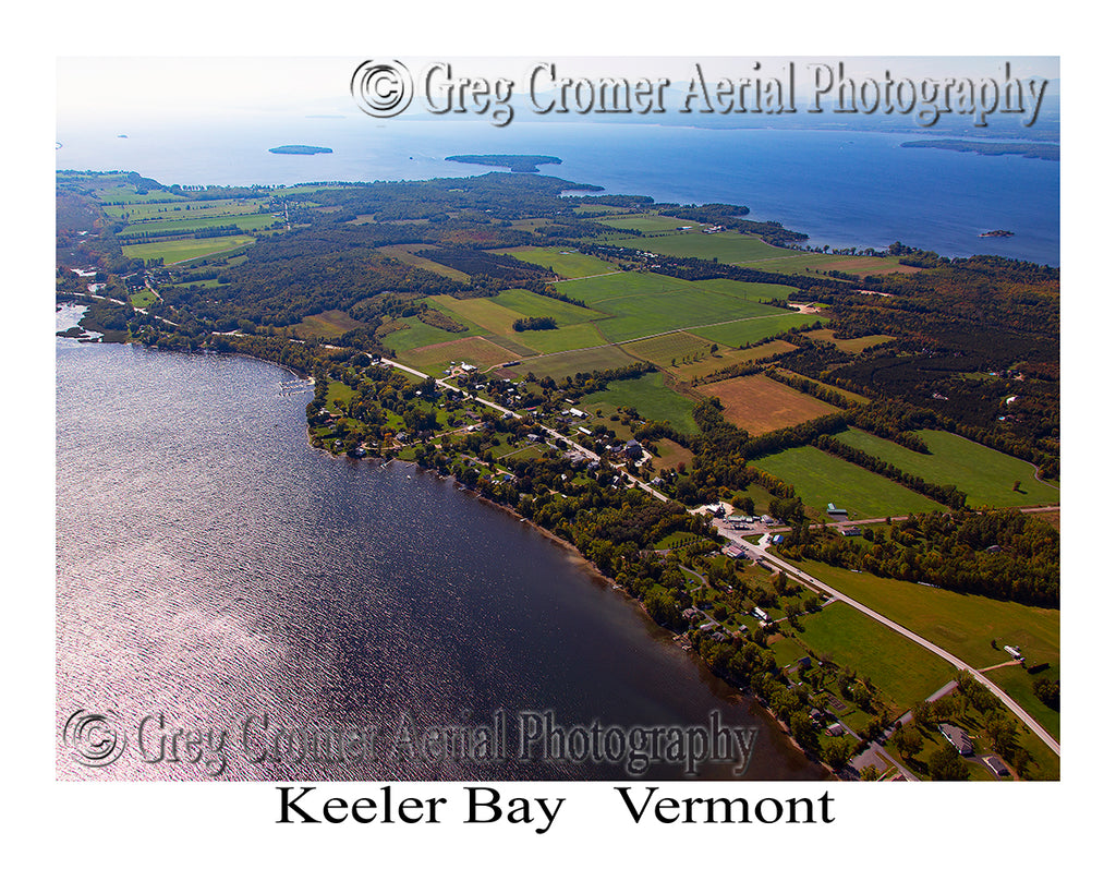 Aerial Photo of Keeler Bay, Vermont