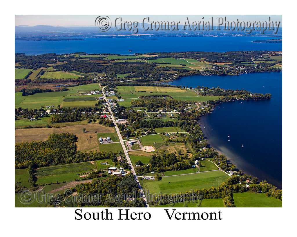 Aerial Photo of South Hero, Vermont
