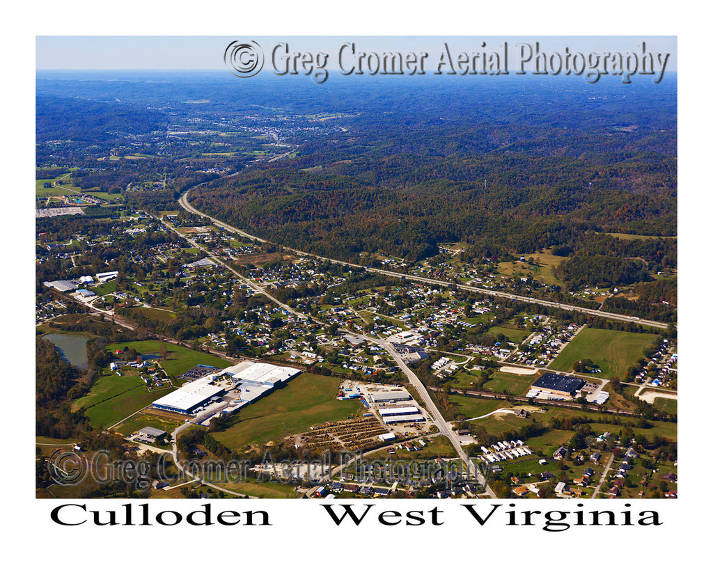 Aerial Photo of Culloden, West Virginia