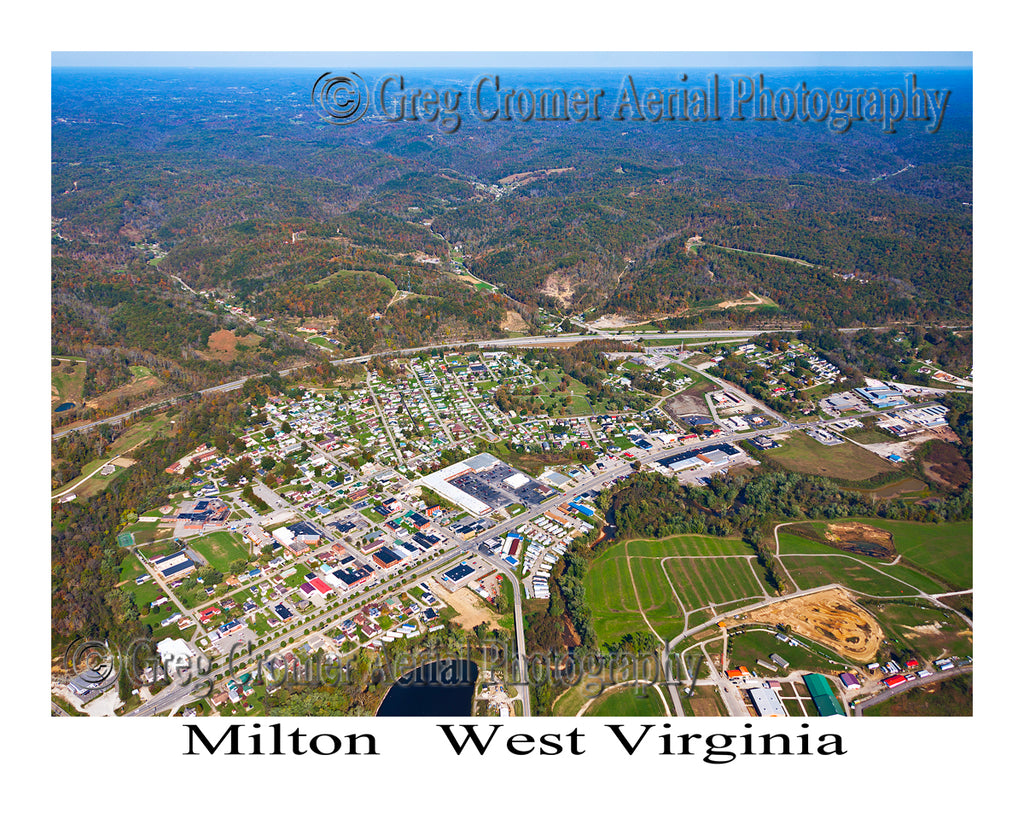 Aerial Photo of Milton, West Virginia