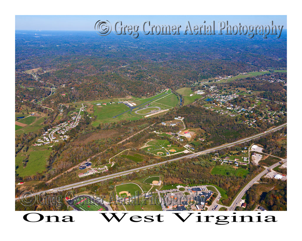 Aerial Photo of Ona, West Virginia