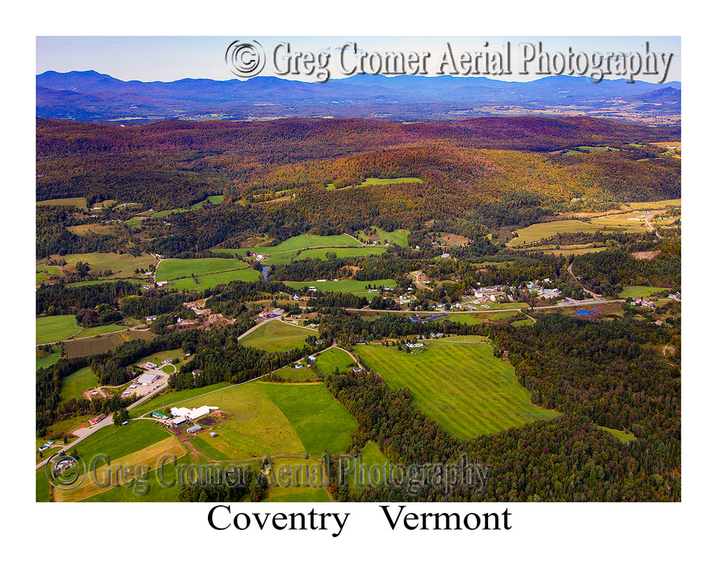Aerial Photo of Coventry, Vermont