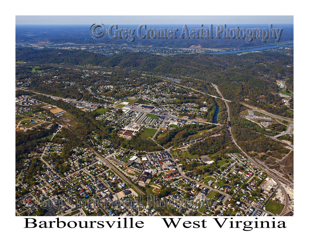 Aerial Photo of Barboursville, West Virginia