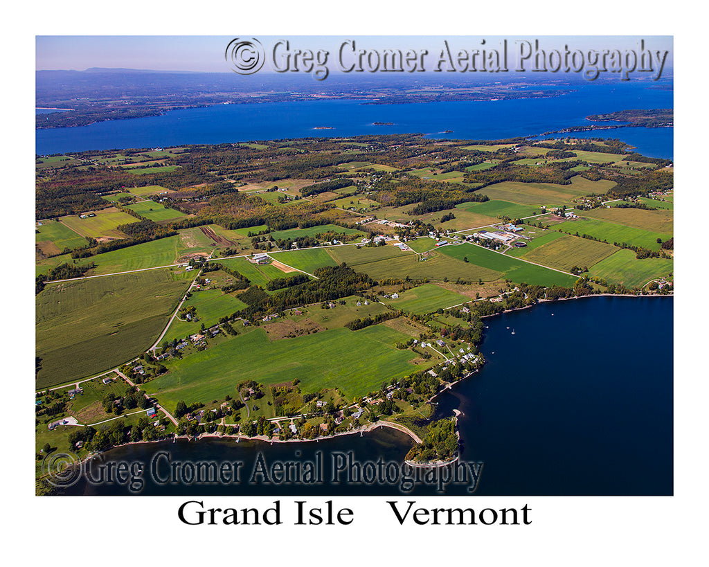 Aerial Photo of Grand Isle, Vermont