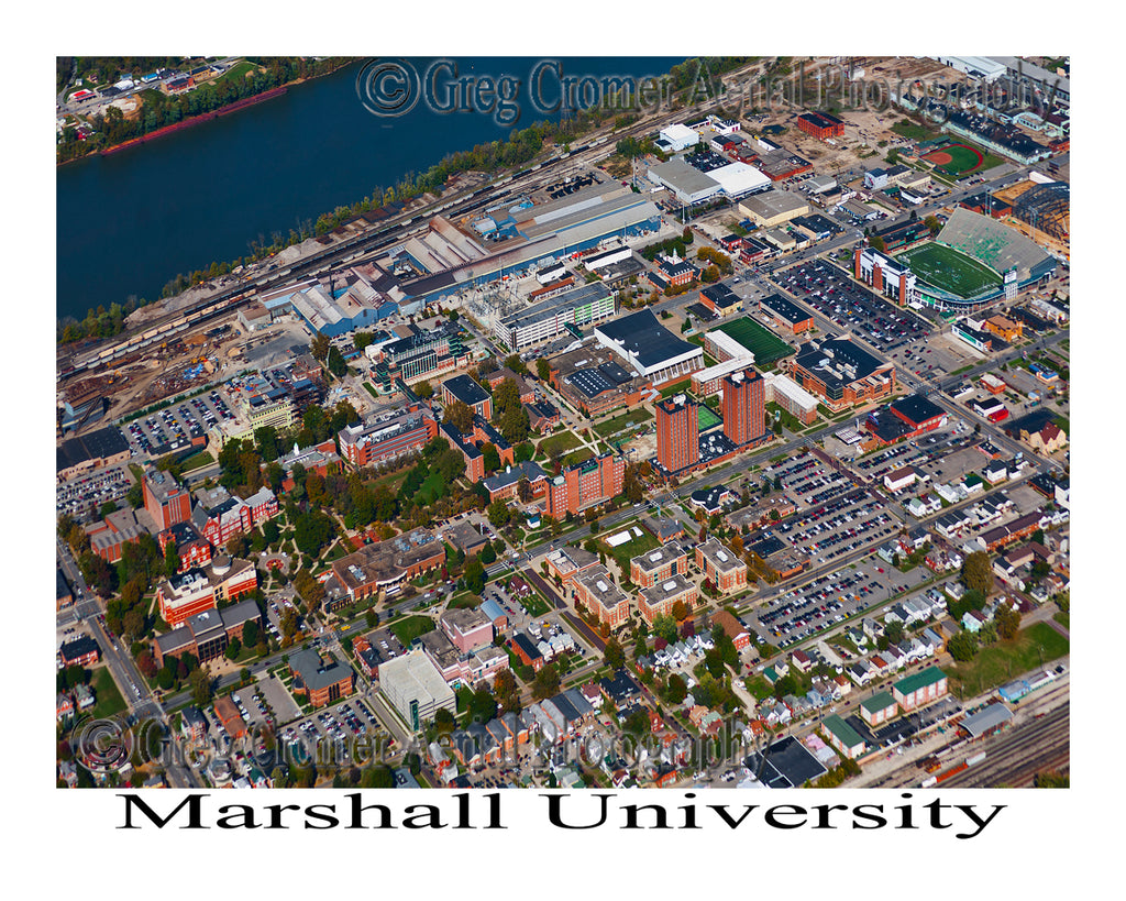 Aerial Photo of Marshall University, West Virginia