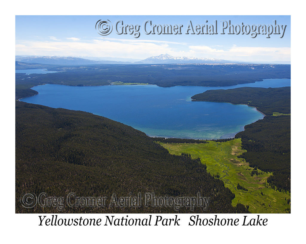Aerial Photo of Shoshone Lake - Yellowstone National Park, Wyoming