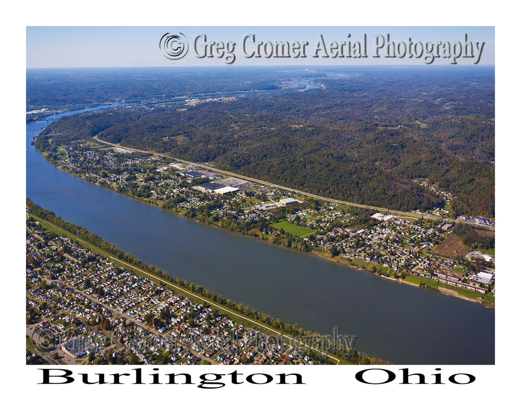 Aerial Photo of Burlington, Ohio