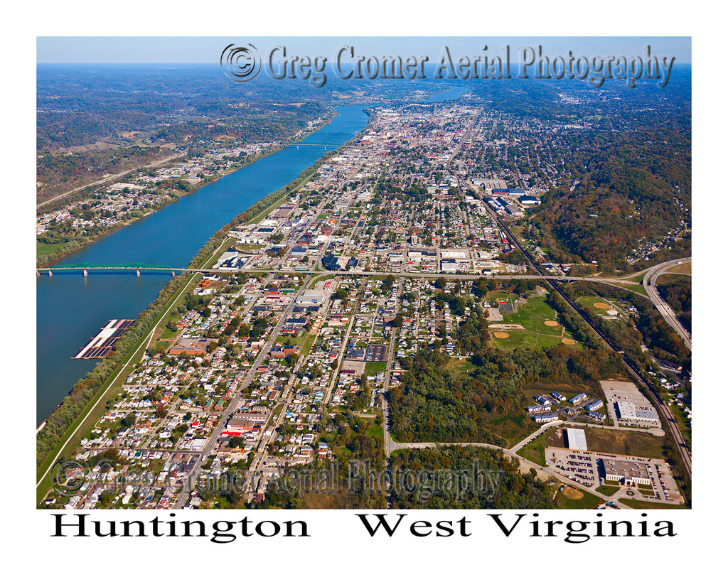 Aerial Photo of Huntington, West Virginia