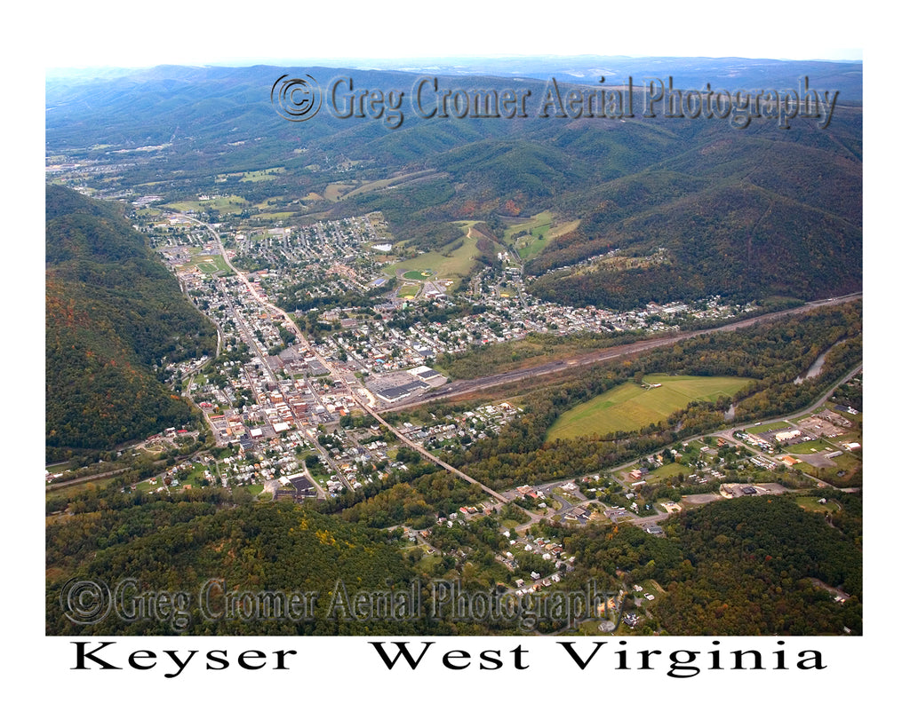 Aerial Photo of Keyser, West Virginia