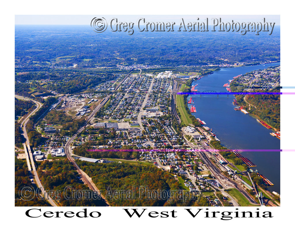 Aerial Photo of Ceredo, West Virginia