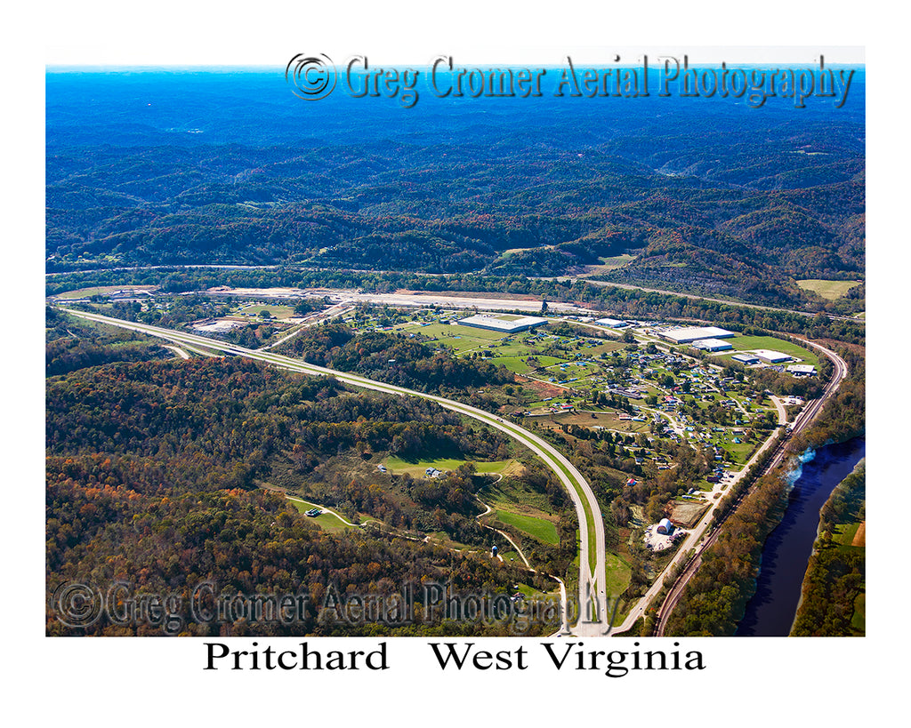 Aerial Photo of Pritchard, West Virginia