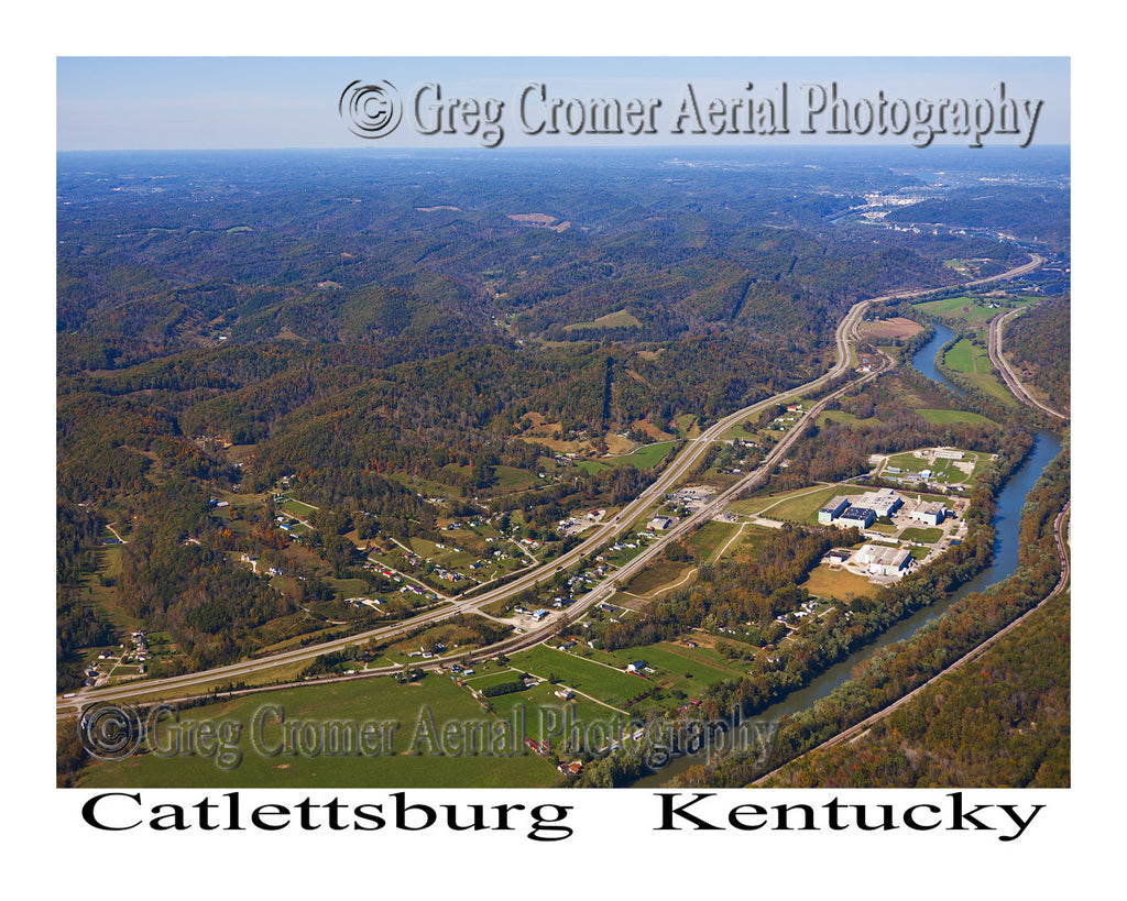 Aerial Photo of Catlettsburg, Kentucky