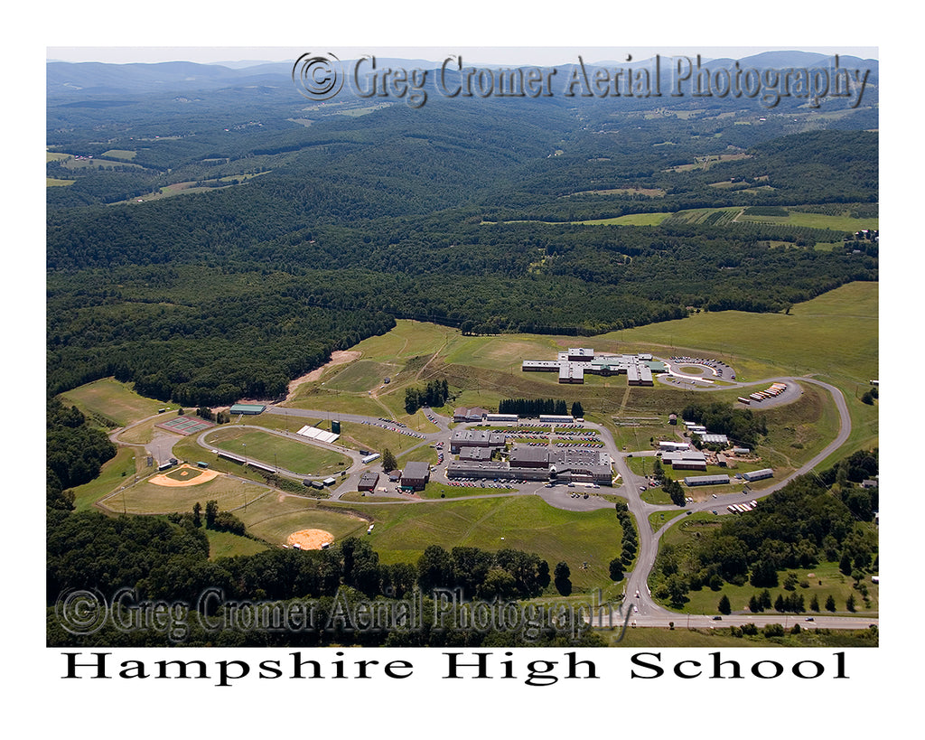 Aerial Photo of Hampshire High School, Romney, West Virginia